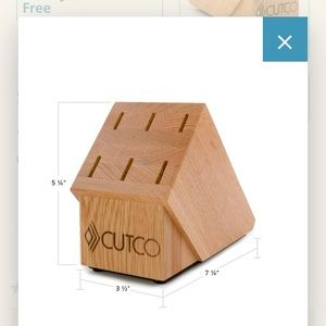 Cutco 6 slot knife block